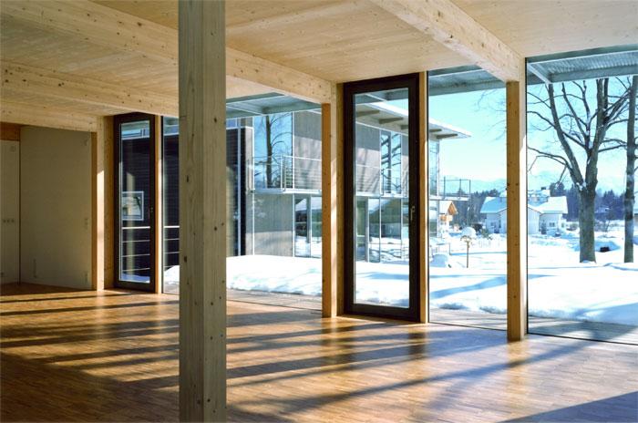 Holzskelettbau architektur  WOHNBEBAUUNG PENZBERG